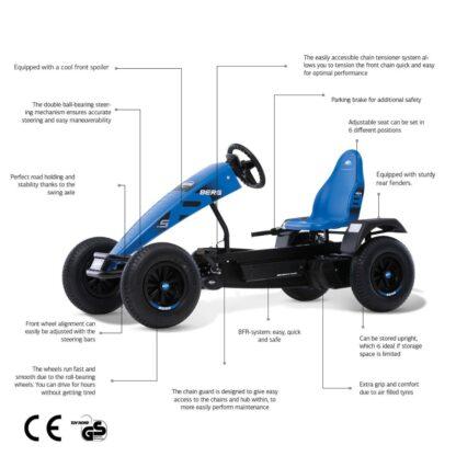 ποδοκίνητο αυτοκίνητο ποδήλατο με πετάλια για παιδιά και μεγάλους Berg Basics Xl B.super Blue